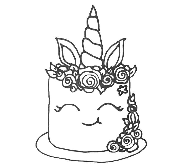 Unicorn Cake Coloring Pages For Adults - Free Printable ...