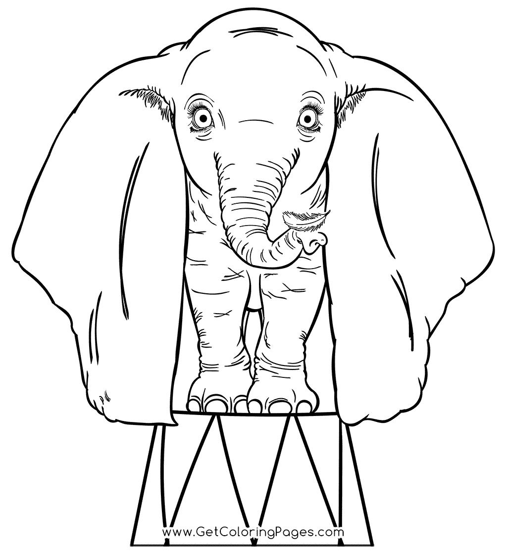 Free Dumbo Coloring Pages Coloring Book 19 printable
