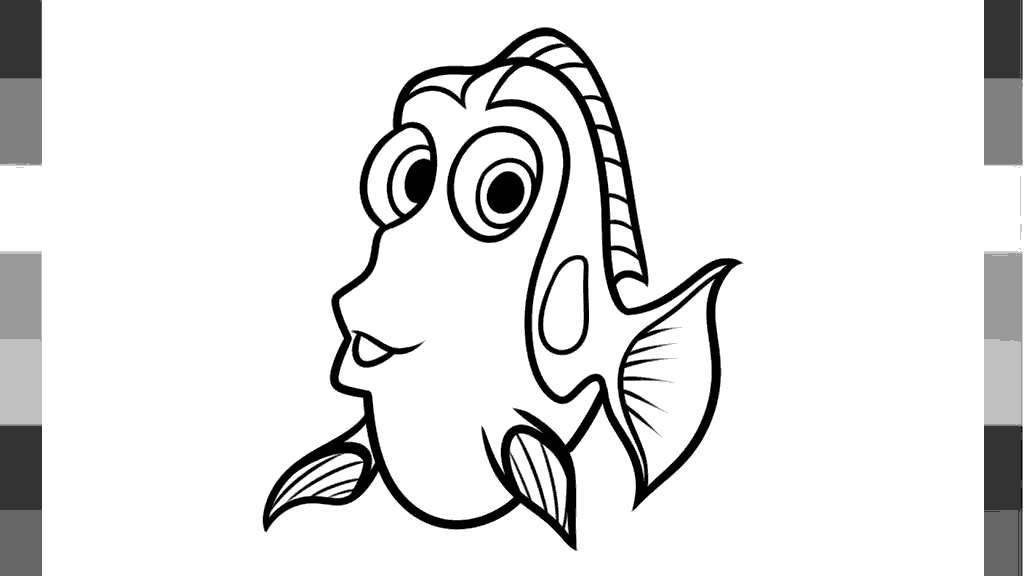 Nemo Y Dory Para Colorear: Finding Nemo Coloring Pages How To Draw Dory