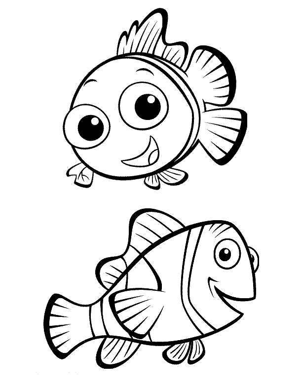 Finding Nemo Coloring Pages Two Fishes - Free Printable ...