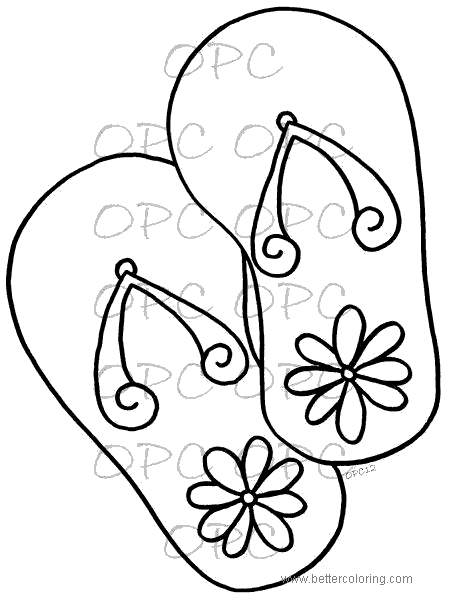 photo regarding Flip Flop Printable named Turn Flop Coloring Internet pages Down load 89 - Free of charge Printable