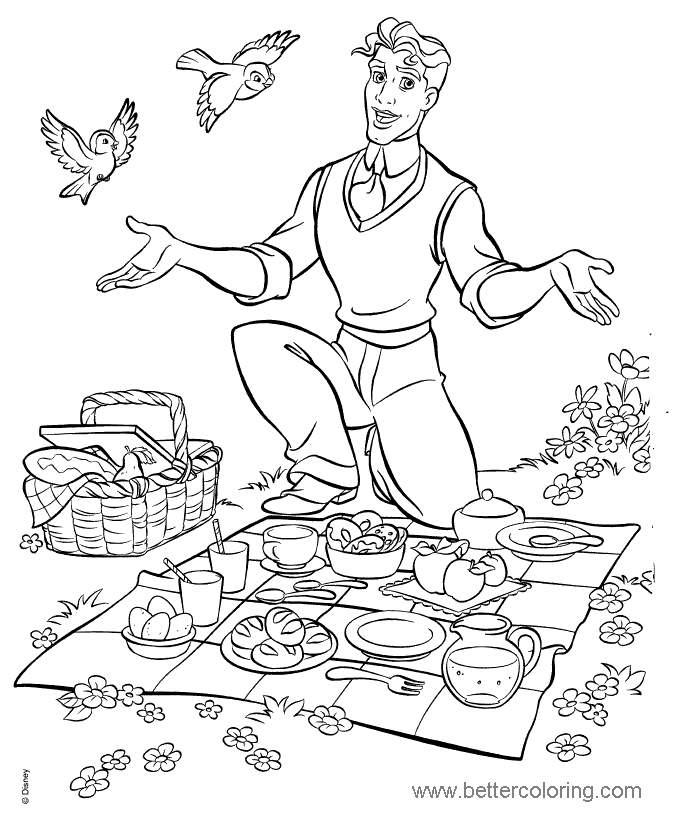 Princess Tiana Coloring: Free Tiana Coloring Pages Linear 61