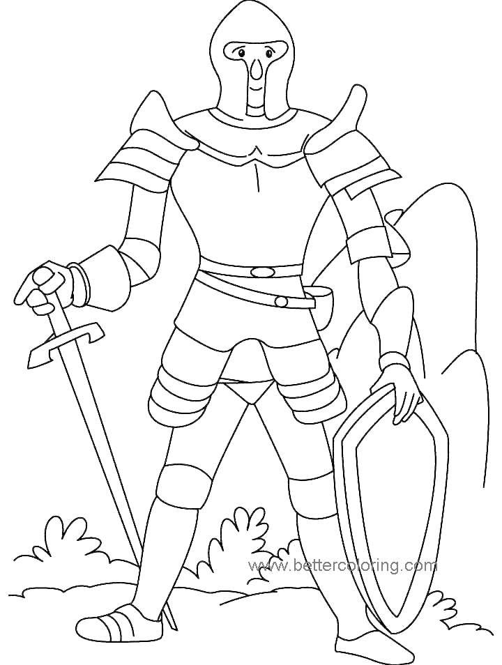 Knight Coloring Pages Coloring Book 155 - Free Printable ...