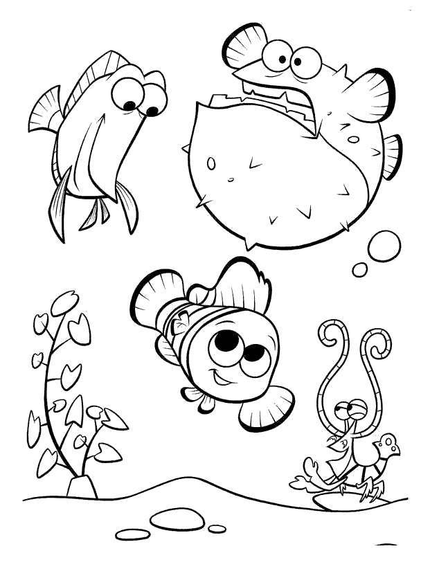 New Finding Nemo Coloring Pages Fan Art Free Printable