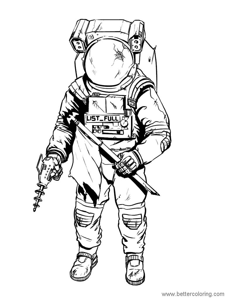 Printable Astronaut Coloring Pages Pictures 235 Free