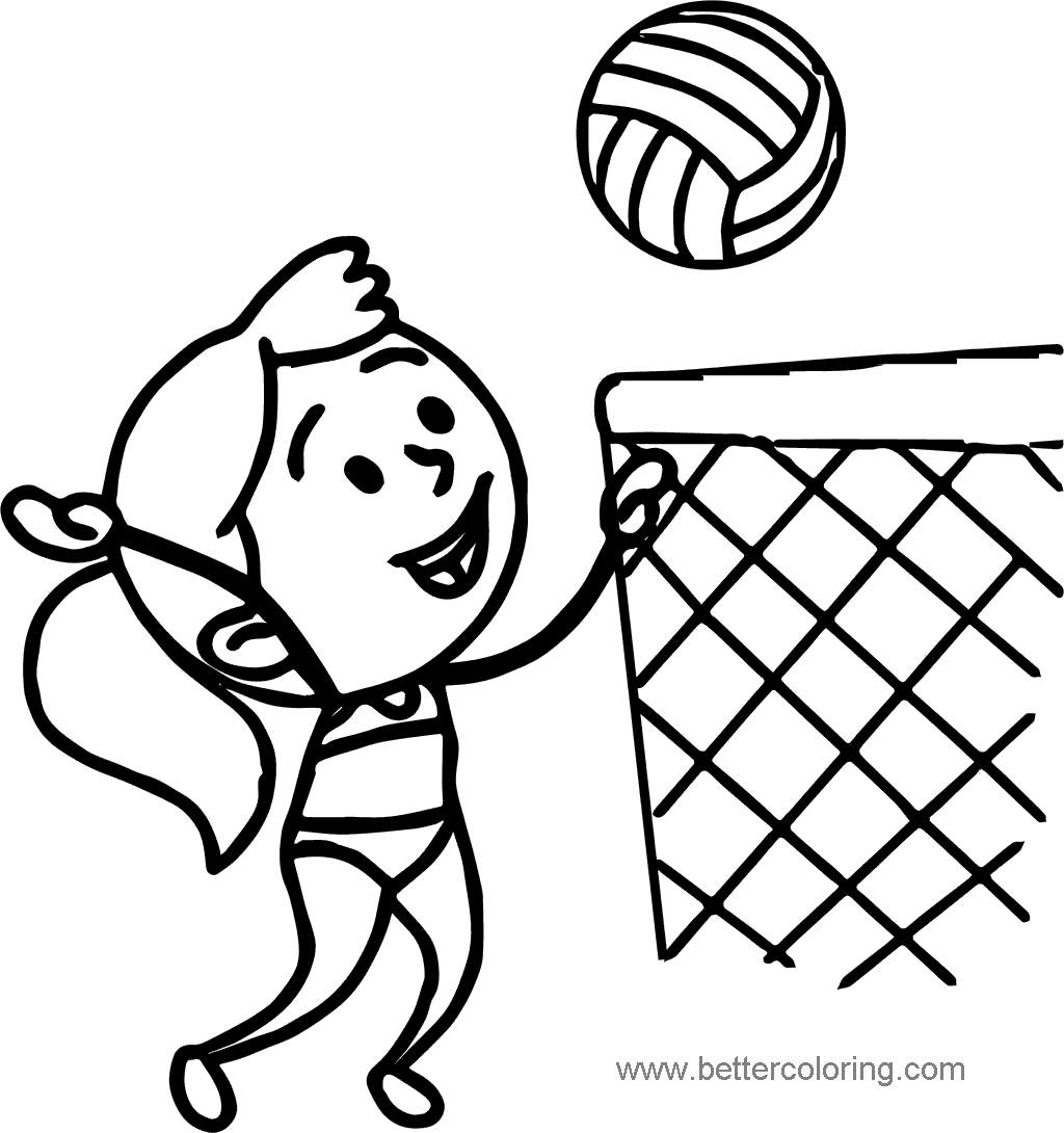 photograph relating to Volleyball Printable referred to as Summer Coloring Webpages Woman Volleyball - Absolutely free Printable
