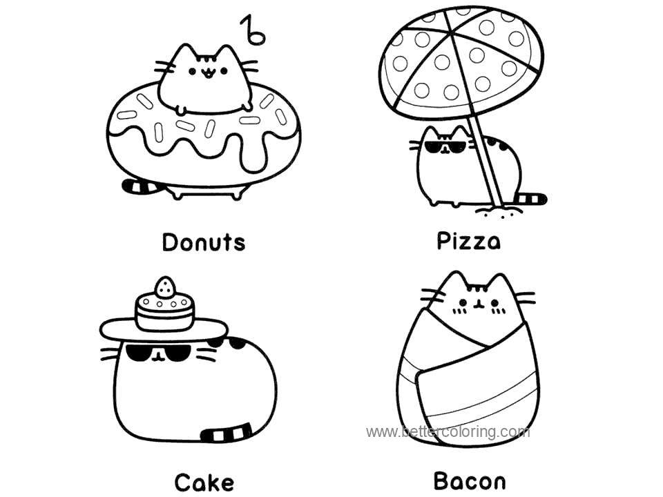 photograph about Pusheen Printable called Summer season Coloring Webpages Pusheen Cat - Totally free Printable