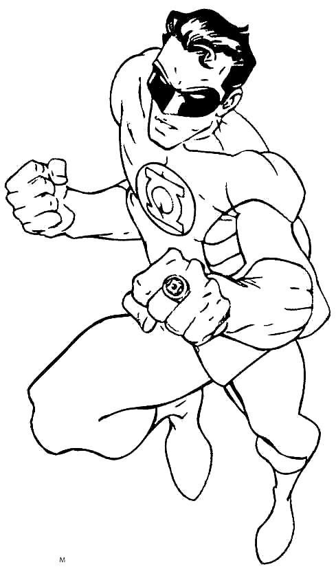 Free 2019 Green Lantern Coloring Pages printable