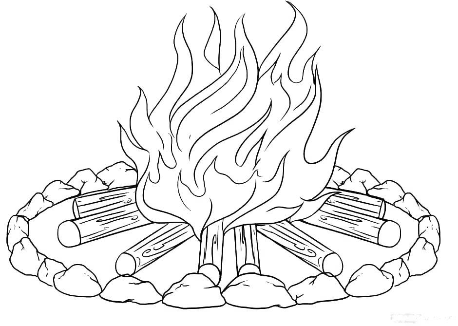 Free Camping Coloring Pages Camp Fire printable