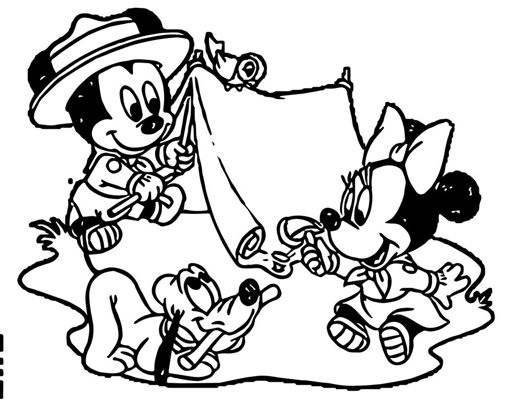 Free Camping Coloring Pages Mickey Coloring Sheets printable