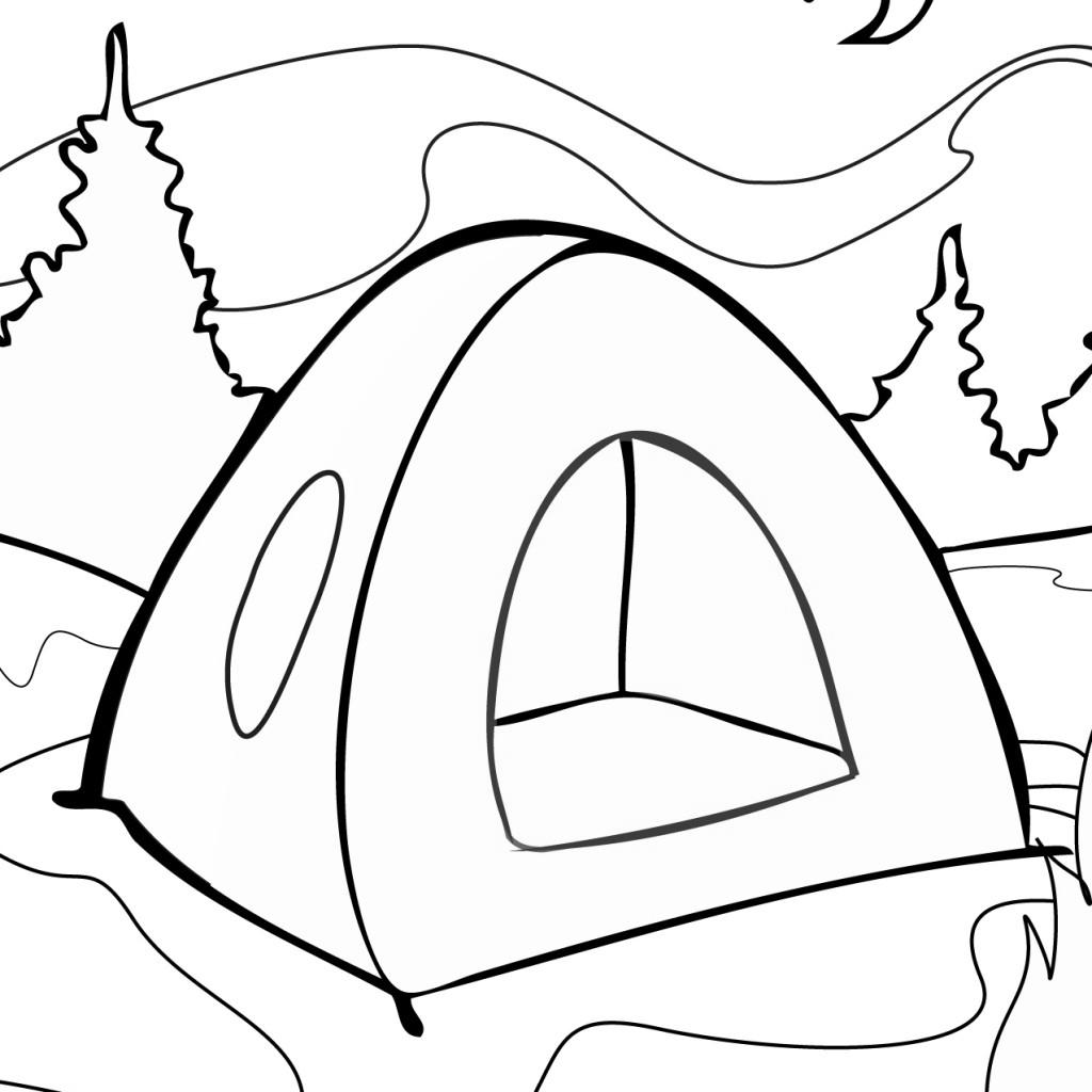 Free Camping Coloring Pages Summer Time printable
