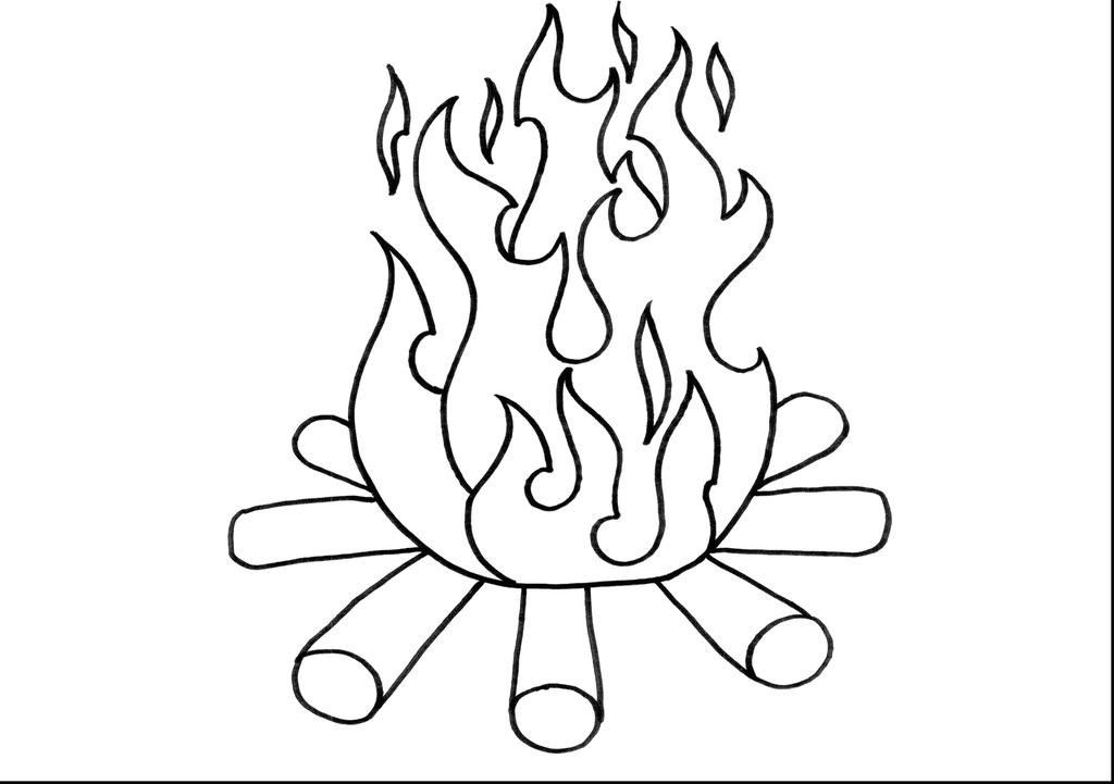 Free Camping Coloring Pages Terrific Fire printable