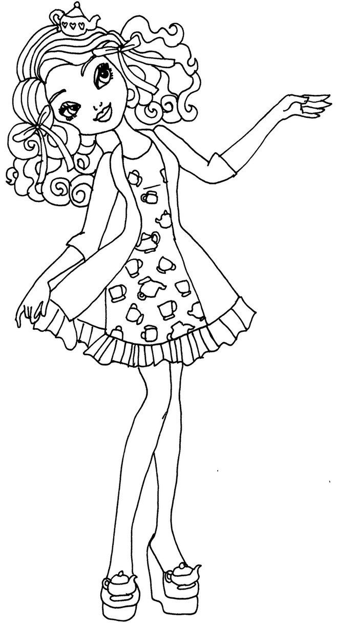 Free Cute Girl from Liv and Maddie Coloring Pages printable