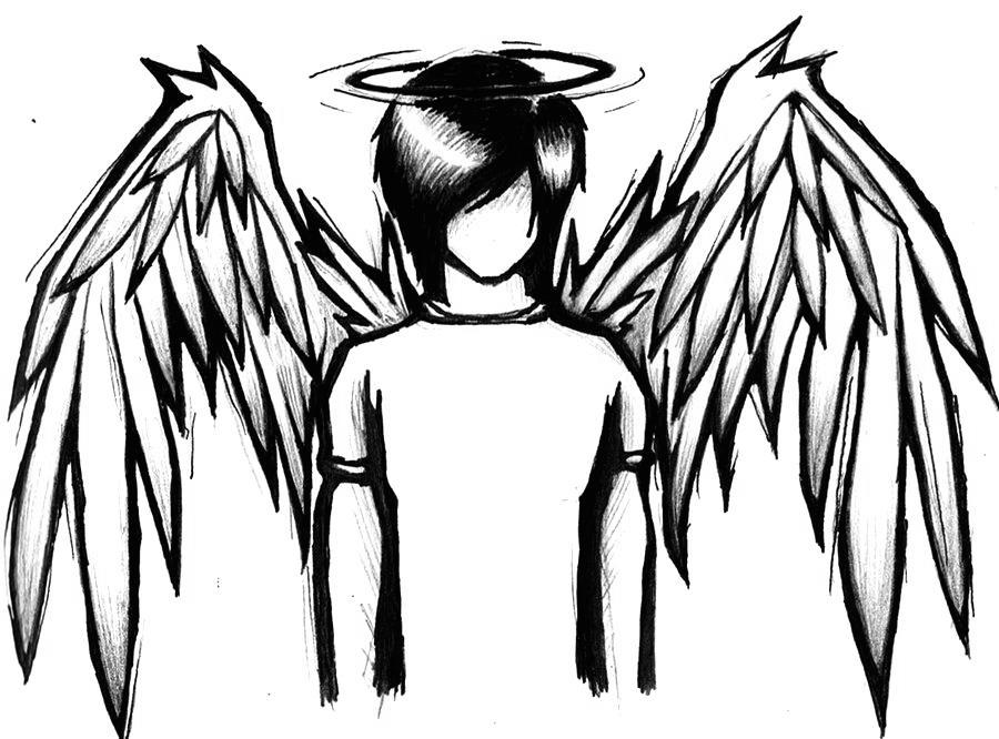coloring pages of fallen angels - photo#38