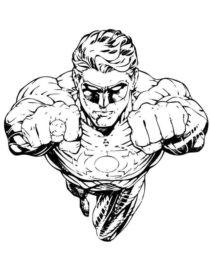 Green Lantern Coloring Pages Black and White - Free ...