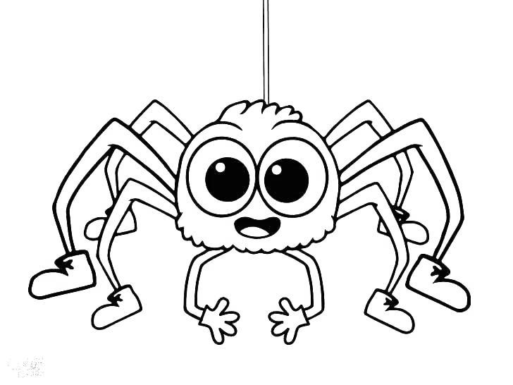 Free Iron Spider Coloring Pages Big Eyes Spider printable