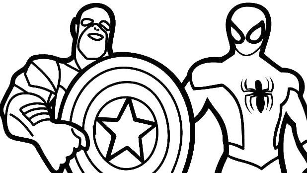 Free Iron Spider Coloring Pages  Captain America and Spiderman printable