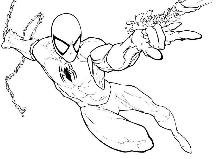 Iron Spider Coloring Pages Lego Man Drawn - Free Printable ...