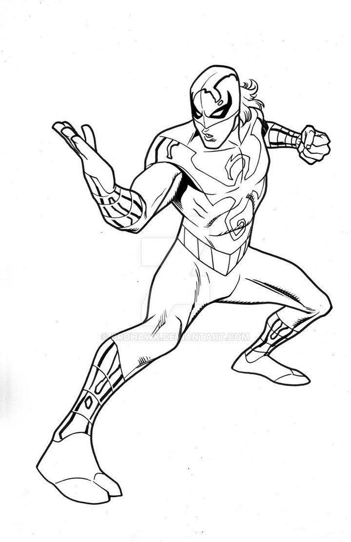 Free Iron Spider Coloring Pages Linear 9 printable