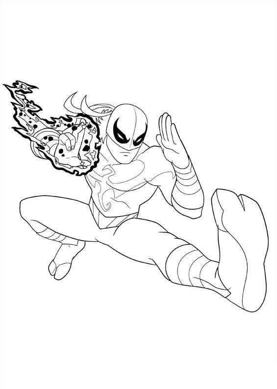 Free Iron Spider Coloring Pages Marvel Superhero printable