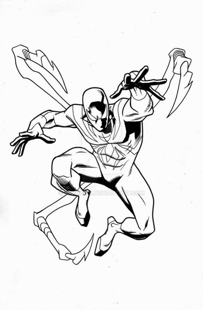 Free Iron Spider Coloring Pages Spiderman is Running printable