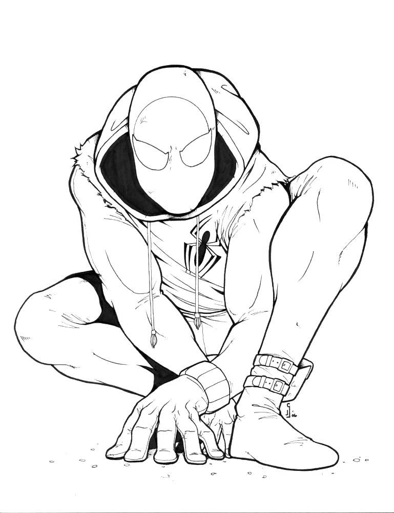 Free Iron Spider Coloring Pages from Marvel printable
