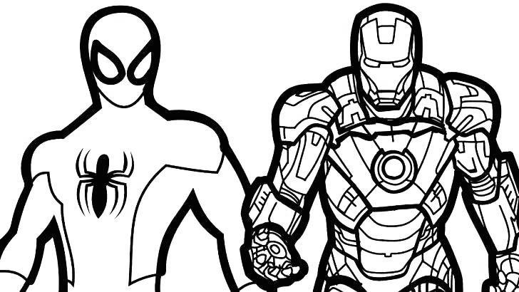Iron Spider Coloring Pages - Free Printable Coloring Pages