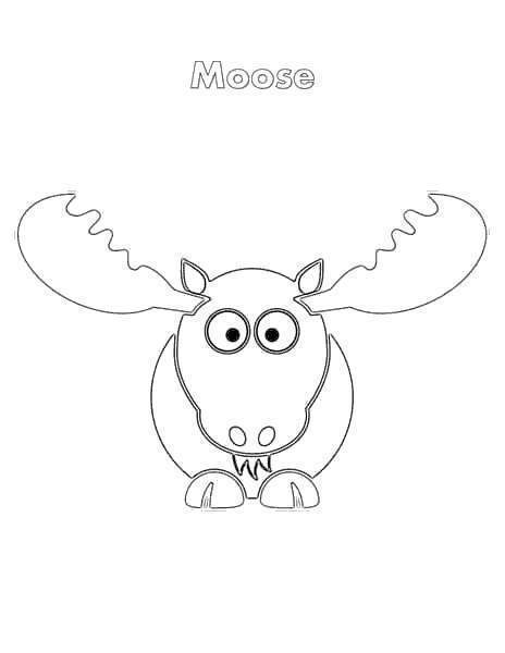 Free Moose Coloring Pages Face View printable