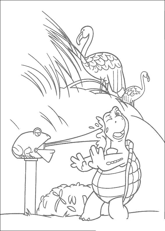 Free Over The Hedge Coloring Pages Verne and Frog printable