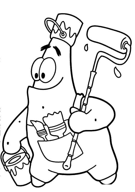 Free Squidward Coloring Pages Patrick Starfish Painting printable