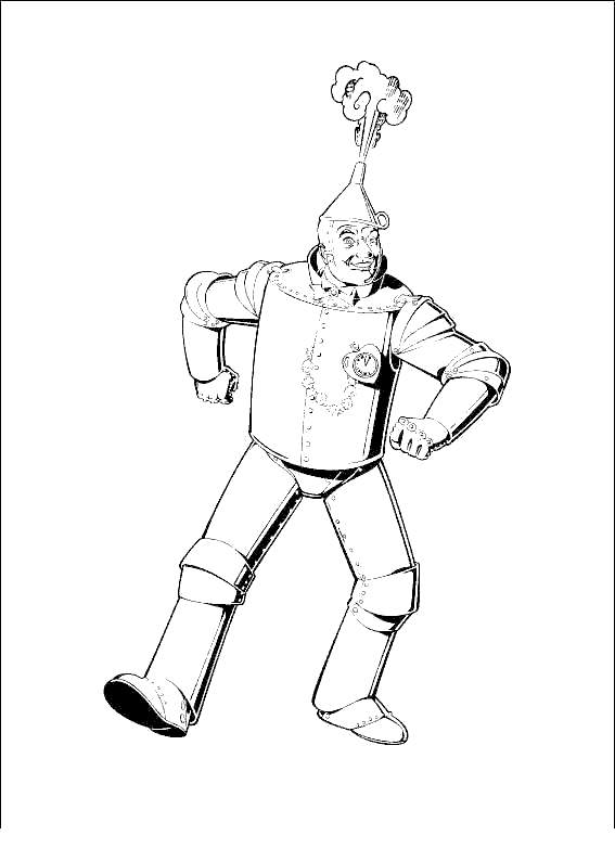 Free The Tin Man From Wizard Of Oz Coloring Pages for Kids printable