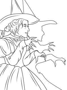 Free Wizard Of Oz Coloring Pages Witch of The West printable