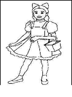 Free Wizard Of Oz Dorothy Coloring Pages printable