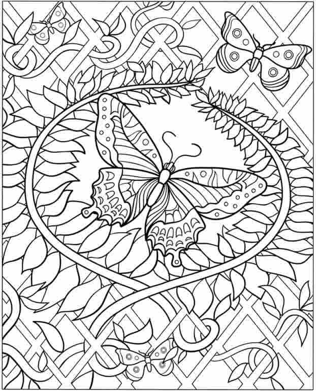 Butterfly Mindfulness Coloring Pages - Free Printable ...