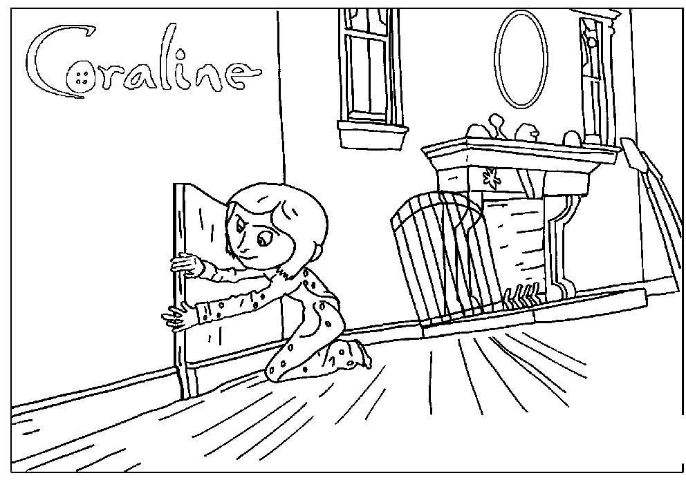 Free Cartoon Coraline Coloring Pages printable