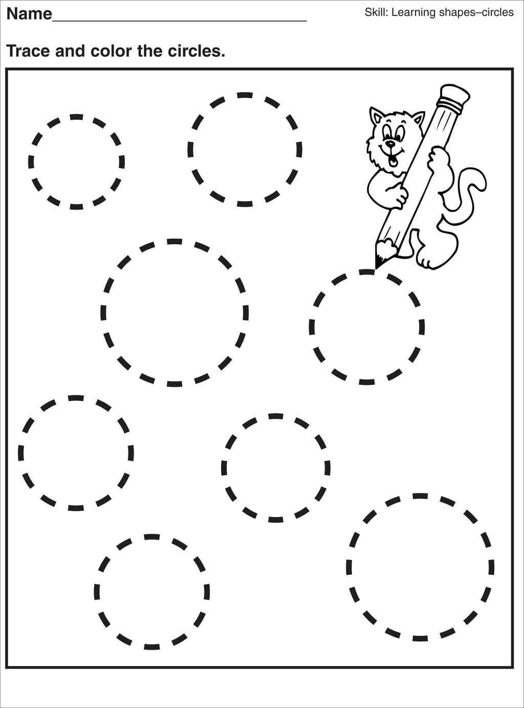 Free Circles Shapes Coloring Pages printable