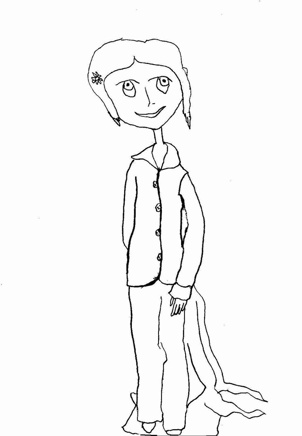 Free Coraline Coloring Pages Hand Drawing printable