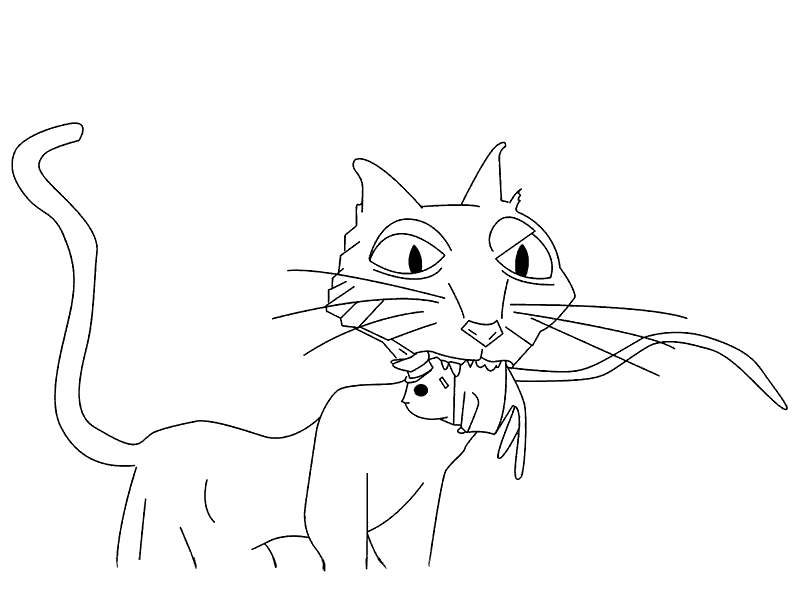 Free Coraline Coloring Pages The Cat printable
