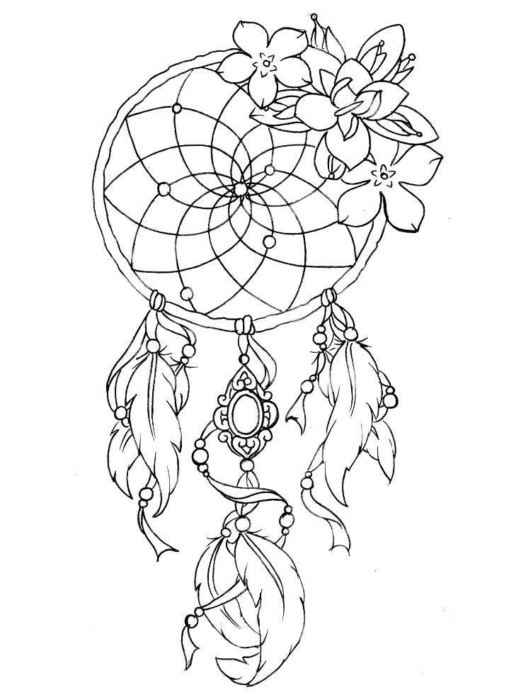 Free Dream Catcher Aesthetic Coloring Pages printable