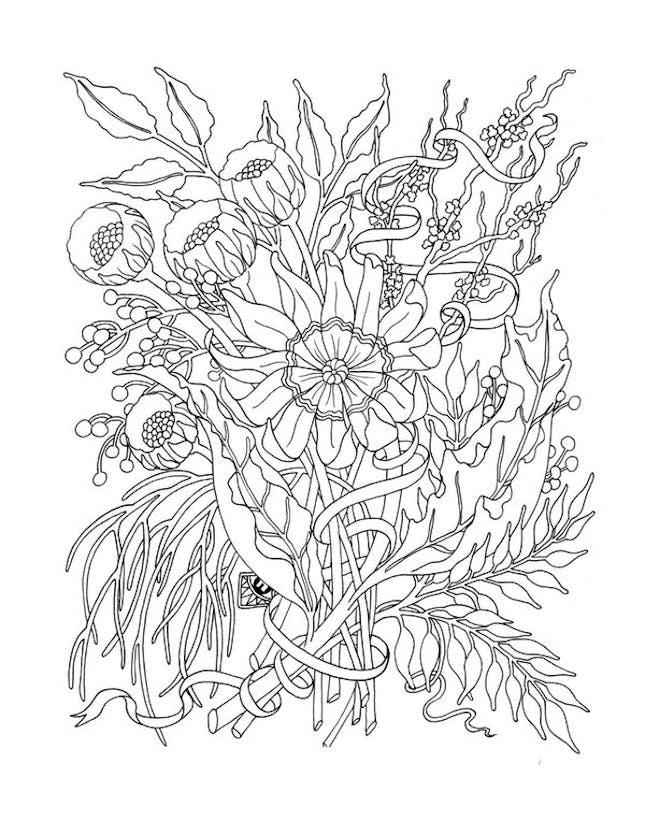 Flowers Mindfulness Coloring Pages
