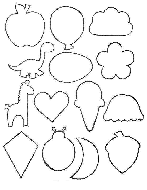 Free Food Shapes Coloring Pages printable