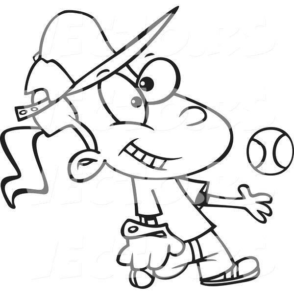 Free Funny Softball Coloring Pages printable