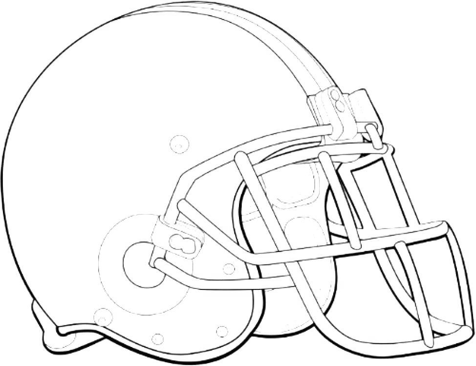 Free Helmet Of Softball Coloring Pages printable