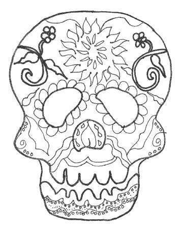 Free Mask of Calavera Coloring Pages printable