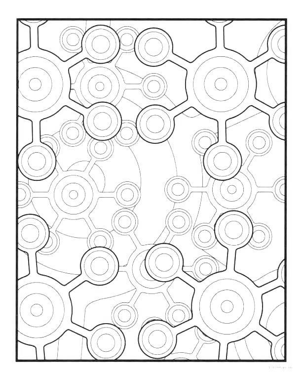 Free Pattern Shapes Coloring Pages printable