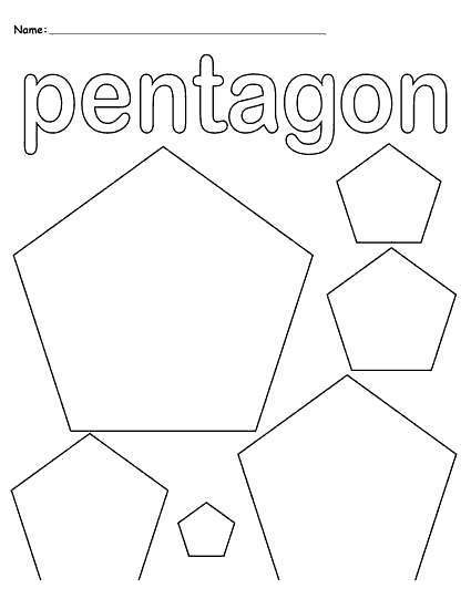 Free Pentagon Shapes Coloring Pages printable