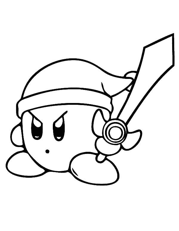 Free Printable Super Smash Bros Coloring Pages Kirby printable