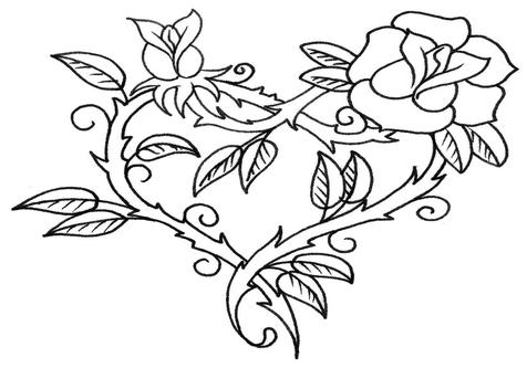 Free Rose Aesthetic Coloring Pages printable