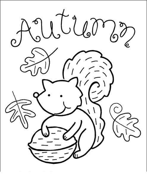 September Coloring Pages Chipmunk - Free Printable ...