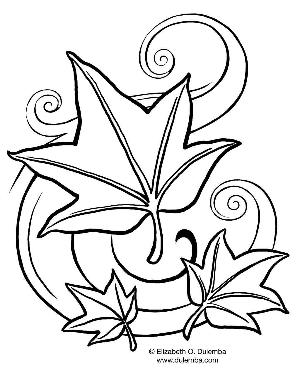 Free September Coloring Pages Fall Outline printable